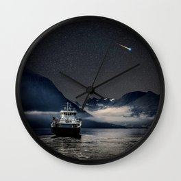 On the Water Under the Stars Wall Clock