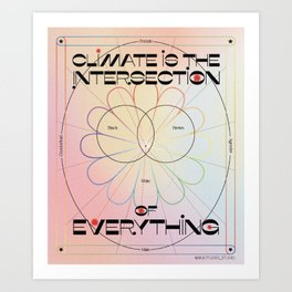 Intersectionality Artwork - Gradient Art Print