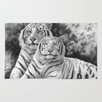 tigers Area & Throw Rugs featuring Two Tigers by Thubakabra