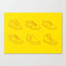 Phases of footwear Canvas Print