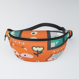 Little foxes waiting for Santa Fanny Pack