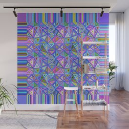 Patchwork Triangles Wall Mural