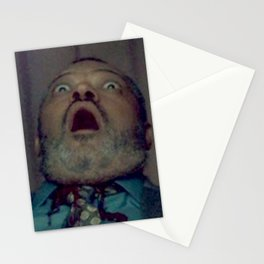 Scared Face Laurence Fishburn Stationery Cards