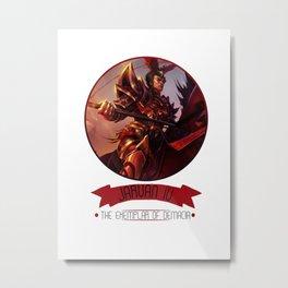 League Of Legends - Jarvan IV Metal Print
