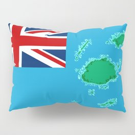 Fiji Map with Fijian iTaukei Flag Pillow Sham