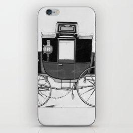 Vintage Horse Carriage Illustration (1877) iPhone Skin