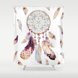 Boho style Dreamcatcher Shower Curtain
