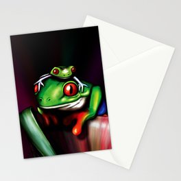 Red Eyed Tree Frogs Stationery Cards