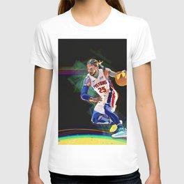 Detroit Basketball Star D. Rose / Slam Dunk / Art Print T-shirt
