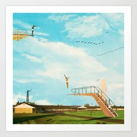 they made great leaps to follow in the flight of birds Art Print