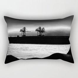 Cranes at Port Talbot Rectangular Pillow