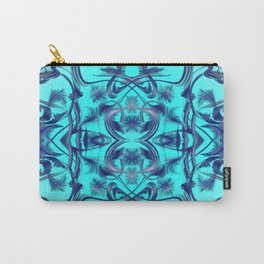 blue Digital pattern with circles and fractals artfully colored design for house and fashion unique Carry-All Pouch
