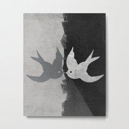 Kissing Birds Metal Print