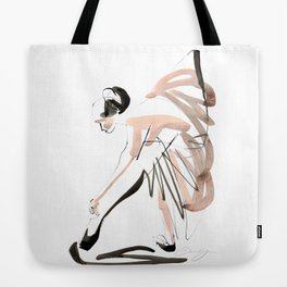 Gesture Dance Drawing Tote Bag