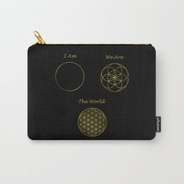 Sacred Geometry The World Carry-All Pouch