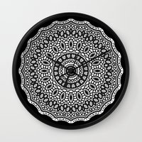 inception Wall Clocks featuring Inception by Mr. Pattern Man
