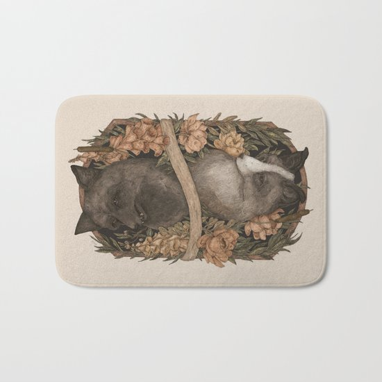 Friend Fox, Foe Fox Bath Mat