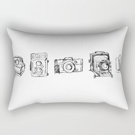 Vintage Camera Line Drawing Rectangular Pillow