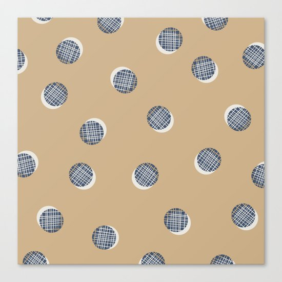 Mixed Dots - in Cocoa Canvas Print