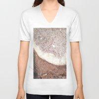 crystals V-neck T-shirts featuring crystals by Cassandra Tavukciyan