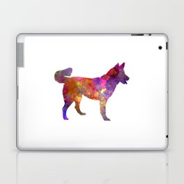 East Siberian Laika in watercolor Laptop & iPad Skin