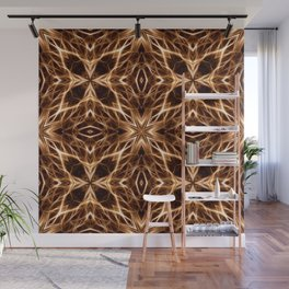 Abstract Geometric Light Factual Copper Wall Mural