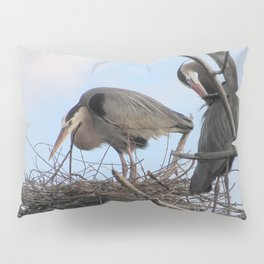 Great Blue Herons Nesting Pillow Sham