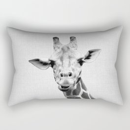 Giraffe 2 - Black & White Rectangular Pillow