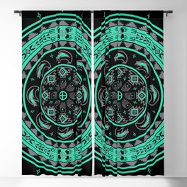 Bear Spirit (Aqua) Blackout Curtain