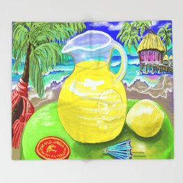Lemon Paradise Throw Blanket