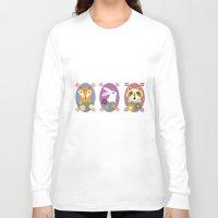 woodland Long Sleeve T-shirts featuring Woodland by LeaLea Rose