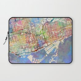 Toronto Street Map Laptop Sleeve