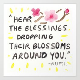 Blessings and Blossoms Art Print