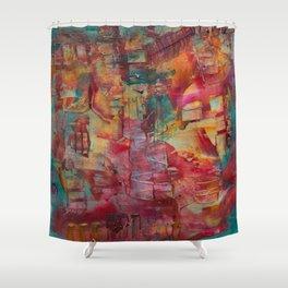 Swinging Through Shower Curtain