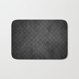 Rustic Metal Diamond Plate Bath Mat