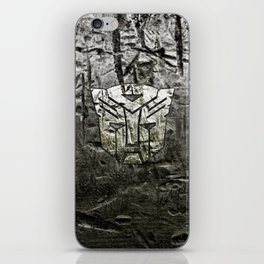 Autobot steel iPhone Skin