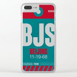 BJS Beijing Luggage Tag 1 Clear iPhone Case