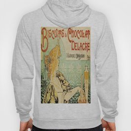Vintage poster - Biscuits and Chocolat Delacre Hoody
