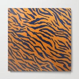 tiger print modern stylish design Metal Print