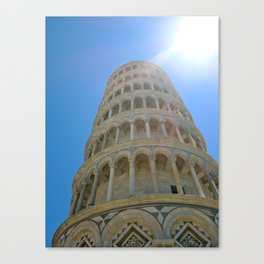 The Leaning Tower of Pisa Canvas Print
