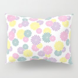 Origami Flowers - Pastel Pillow Sham