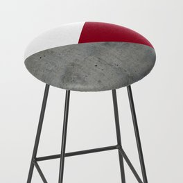 Concrete Burgundy Red White Bar Stool