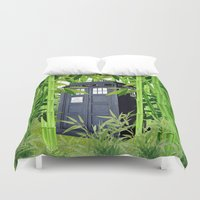 tardis Duvet Covers featuring Tardis by tanduksapi