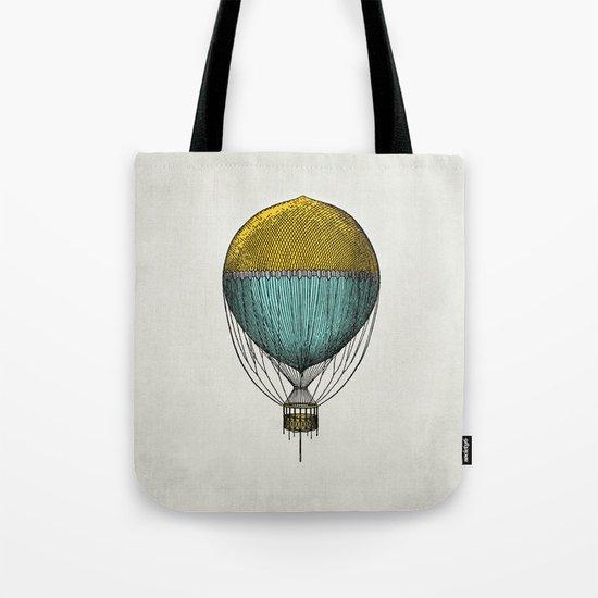 Vintage Hot Air Balloon Tote Bag