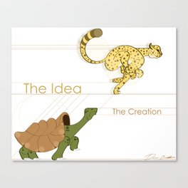 Creation: The Idea Vs the Task Canvas Print