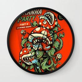 Pyranha Party Wall Clock