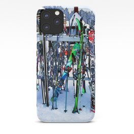 Ski Party - Skis and Poles iPhone Case