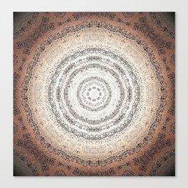 Vintage Ancient Words Mandala Canvas Print
