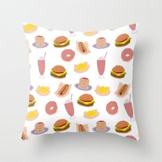american diner food Throw Pillow