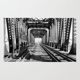 Train Bridge Rug
